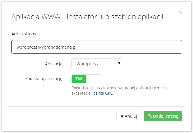 instalator aplikacji